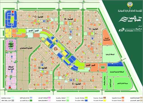 مخطط مدينة صباح الاحمد